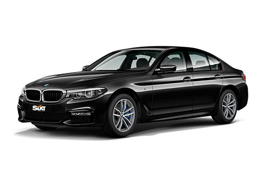 BMW 5 Series  or similar with driver
