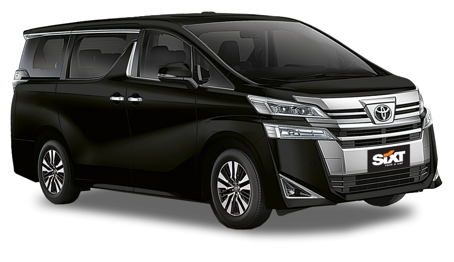 Toyota Vellfire or similar with driver